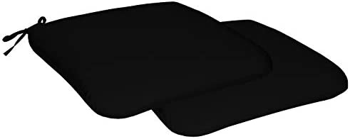 Honeycomb Indoor/Outdoor Sunbrella Canvas Black Universal Seat Cushions: Recycled Polyester Fill