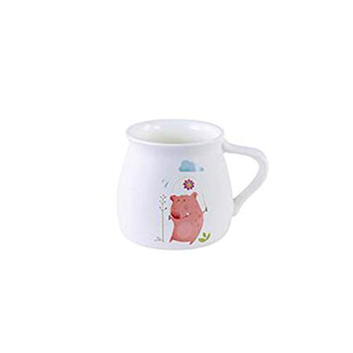 Shengshihuizhong Ceramic Mug Couple Cup Home Office Coffee Cup Mug Milk Cup Breakfast Cereal Cup Cute Animal Pink Pig Drinking Cup