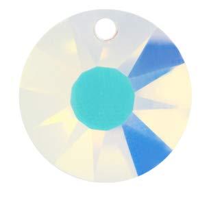 - 40mm Swarovsk Strass Aurora Borealis Sun Disc Crystal Prisms