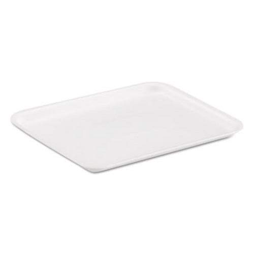 Genpak 8SWH Supermarket Trays, White, Foam, 8 1/4 x 1/2 x 10 1/4 (Case of 500)