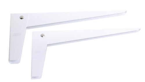 Stanley Hardware S250-079 CD771 Folding Shelf Bracket in White, 11'' x 5'', 2 piece by Stanley Hardware