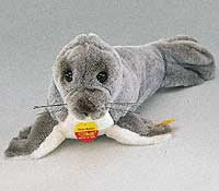 Vintage Steiff Germany Cosy Robby Seal Squeaker Plush 090202