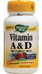 Nature's Way Vitamin A and D 100 Capsules