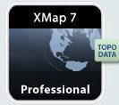 Delorme Xmap 7 Professional With Topo & Street Data, Traditional - Target Locations Map