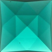 Stained Glass Jewels - 25mm Square Faceted - Teal