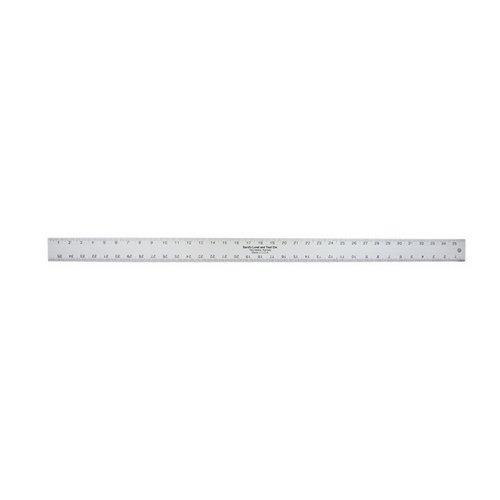 Kraft Tool SLASE24T, 24'' x 2'' x 3/16'' Silver Aluminum Thick Straightedge Ruler, Pack of 50 pcs