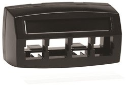 4 Port Faceplate Furniture - M14CE-E-003 - Systimax M14CE-E Type Furniture Faceplate, 4-port Black, Pack of 2