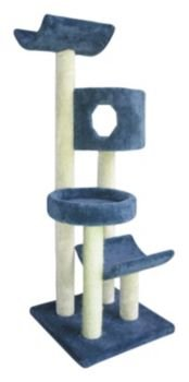 """Molly and Friends """"Fluffy's Favorite"""" Premium Handmade 4-Tier Cat Tree with Sisal, Model 3L23, Beige, My Pet Supplies"""