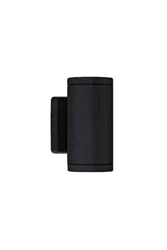 Bruck Lighting 105010bk Outdoor 2-Light LED Cylinder Wall Sconce Anthracite Finish