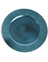 Fennco Styles Classic Design Holiday Decorative Charger Plate-Set of 4 (Teal) (Charger Plates Teal)