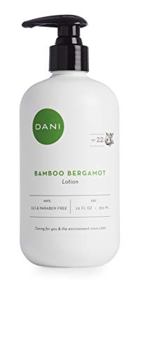 Natural Hand and Body Lotion by DANI Naturals - Bamboo Bergamot Aromatherapy - with Moisturizing Shea Butter and Aloe - Perfect for Men and Women 12 oz. bottle