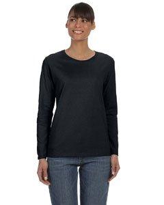 Gildan Heavy Cotton Ladies' Long-Sleeve T-Shirt, Blk, X-Large
