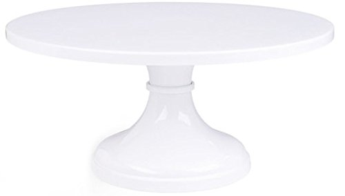 White Pedestal Cake Stand 14 Inch Round Wedding Cake Stand by Belmont Cakes LLC (Image #1)