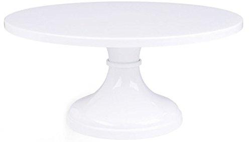 White Pedestal Cake Stand 14 Inch Round Wedding Cake Stand