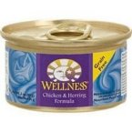 Wellness Canned Chicken & Herring Cat Food 48x 5.5 Oz