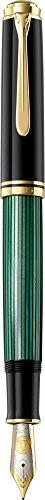 Pelikan Souveran 1000 Black/Green Fine Point Fountain Pen - 987586