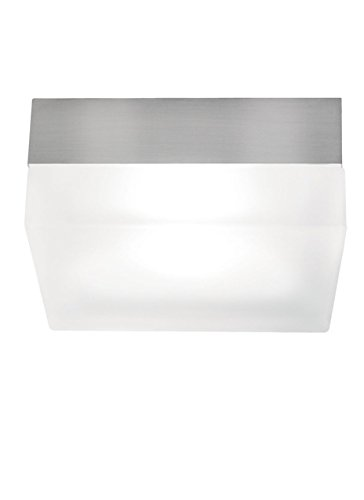 Tech Lighting 700FM90LS-CF TL 90 - Two Light Square Large Flush Mount, Choose Finish: SN: Satin Nickel, Choose Lamping Option: CF: Compact Fluorescent (Nickel Compact Satin)