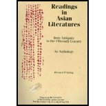 Readings in Asian Literatures from Antiquity to the Fifteenth Century 9780787235772