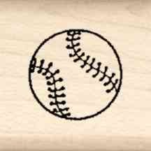 Stamps by Impression LT 41 Baseball Rubber Stamp