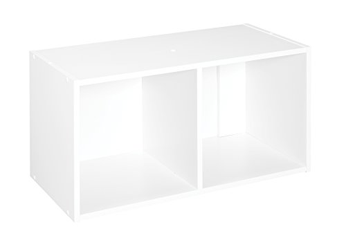 ClosetMaid 8947 Cubeicals Organizer, 2-Cube, White