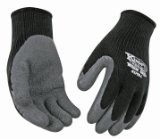 KINCO 1790-S Men's Warm Grip Thermal Lined Latex Coated Gloves, Small, Black/Gray