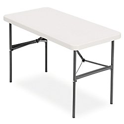 Amazoncom RealspaceR Molded Plastic Top Folding Table Ft Wide - 4 ft office table