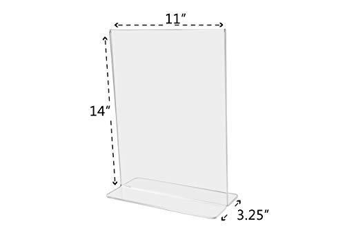 Marketing Holders Sign Holder Literture Flyer Display Stand Bottom Load Frames 11''w x 14''h Pack of 10 by Marketing Holders (Image #5)