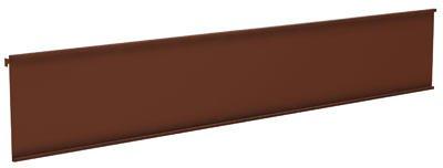 Lozier Store Fixtures UMSH408SPC AA8 48 x 8 in. Lozier Upright Mount Bronze Metal Sign Holder (Lozier Store Fixtures)