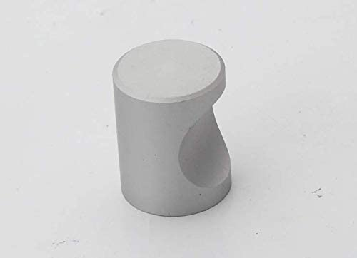 """Addlike Finger Pull Cabinet Knobs Aluminum Alloy Silver Kitchen Cabinet Knobs Round 0.87x0.71""""(DxH)Single Hole Pack of 6"""
