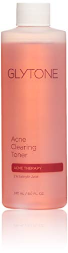 Glytone Acne Gel - Glytone Acne Clearing Toner with Salicylic Acid, Mattifying for Blemish Prone Skin, Oil-Free, Non-Comedogenic, 8 oz.