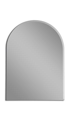 MirrorsHome | Frameless Bathroom Arch Wall Beveled Edge Mirror 36.inch X 26.inch ()