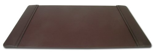 Dacasso Chocolate Brown Leather 34 By 20 Inch Desk Pad With Side Rails By Dacasso by Amazon