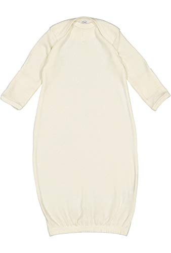 Rabbit Skins Infant Baby Rib Layette, Natural, NB ()