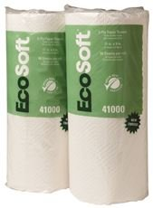 WAUSAU PAPERS WAU 41000 EcoSoft Household Roll Towel, 11'' x 9'', White (Pack of 30) by Wausau Papers