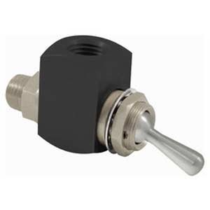 """Clippard CR-GTV-3Q Cr 3-Way Toggle Valve, 1/4"""" NPT Male, Corrosion-Resistant Materials by Clippard"""