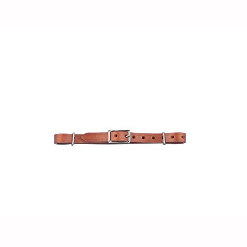Myler Adjustable Leather Combination Bit Curb Strap ()