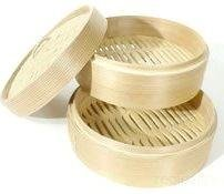 Bamboo Steamer and Cover 2+1 (6 IN)