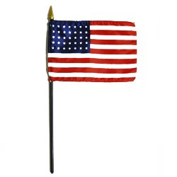 - US 35-star Miniature Flag (1863-1865) (4 in. x 6 in.)