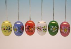 Dregano Set of 6 Beautiful Painted Easter Eggs Set