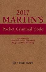 Martin's Pocket Criminal Code, 2017 Edition
