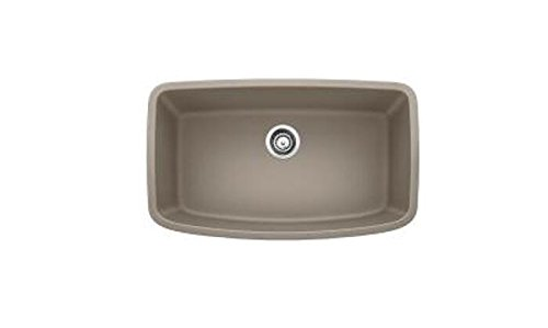 - Blanco 441772 Valea Super Single Bowl Sink, Truffle