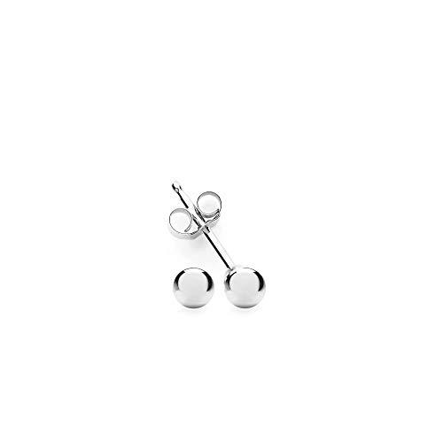 Sterling Silver Ball Stud Earring 3mm-10mm (3 -