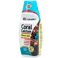 Nécessaires à boire le calcium de corail liquide, 380 mg, Vanille, 33 Onces (Pack de 2)