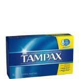 Tampax Tampons Cardboard, Regular Absorbency
