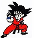 Red Dragonball Z 2.8x 2.2 inches cartoon patch Jacket T- shirt Patch Sew Iron on Embroidered Badge Sign (Iron Man Costum)