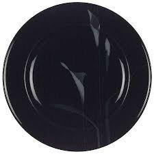 (Mikasa Galleria Opus Black Calla Lilly Salad Plate Fk 701)