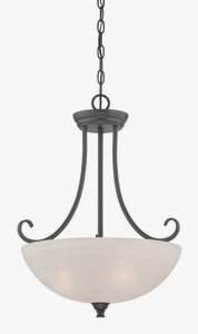 Designers Fountain 85131-ORB Kendall Inverted Pendant, Oil Rubbed Bronze