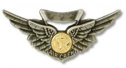 - Miniature Navy Combat Aircrew Badge Oxidized Finish