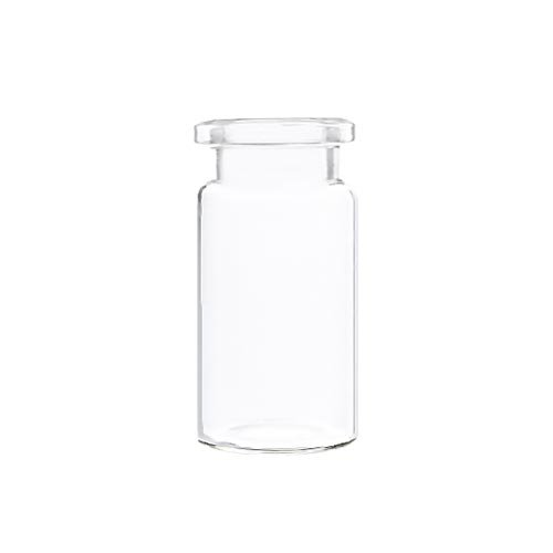 10 mL Crimp Top Headspace Vials, Beveled Edge, Flat Bottom, Clear Glass, 100 pcs/pk.