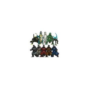 Oliasports 10Pcs Mini Godzilla Dinosaur Toys Action Figure